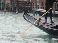 The oar of the gondola