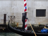 Gondolier in action