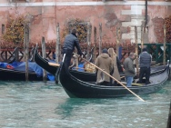 Gondola canal crossing