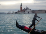 gondolier with San Giorgio in the background