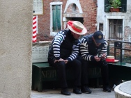 Gondoliers waiting for customers