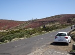 My vehicle descending from Teide