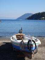 Boat on Marina corta beach