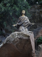 Statue on the rocks