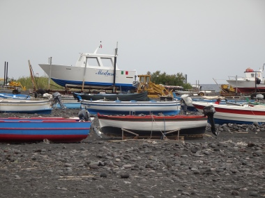 Stromboli boatyard
