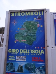 Island tour sign