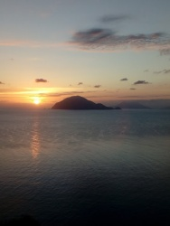 Sunrise over Filicudi