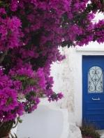 Hora blue doorway