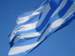 The Greek flag