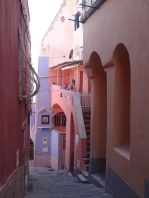 Pastel-coloured houses