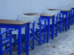 Blue taverna chairs