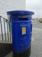blue Guernsey postbox
