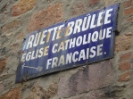 Signs are still in French
