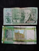 Guernsey & Jersey £1 notes