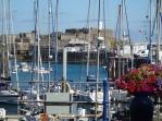 Castle Cornet + yachts