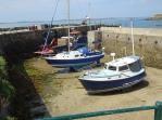Herm Harbour low tide