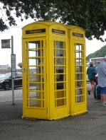 Yellow phone boxes