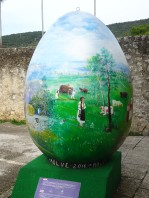 Giant painted egg