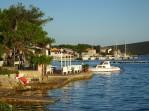 Ilovik harbour from path