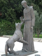 St Francis + wolf