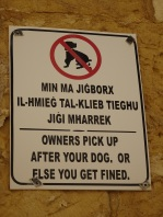 Pick up after your dog or else!