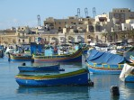 Traditional boats in Marsaxlokk
