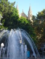 spires + fountain